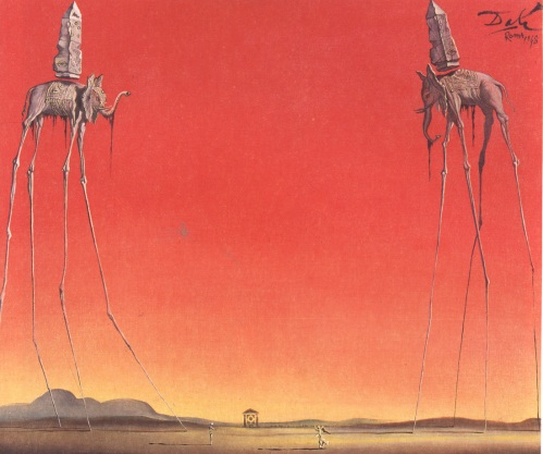 Los Elefantes. Salvador Dalí, 1948.