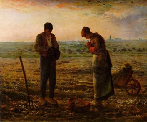 JEAN-FRANÇOIS MILLET - El Ángelus (Museo de Orsay, 1857-1859. Óleo sobre lienzo, 55.5 x 66 cm)