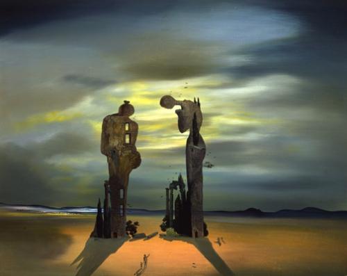 """Salvador Dalí, """"Reminiscencias Arqueológicas del Ángelus de Millet"""""""