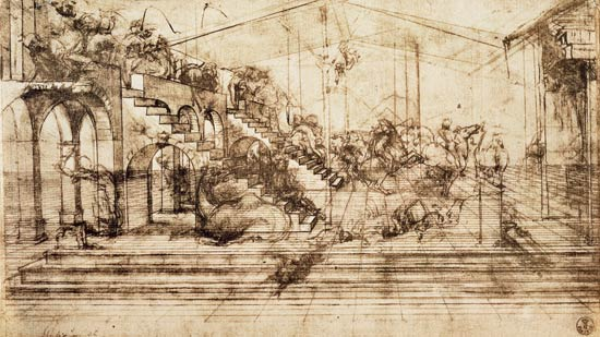 """Sketch"" de Leonardo Da Vinci"
