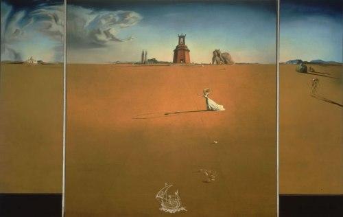 Muchacha saltando a la cuerda en un paisaje, Salvador Dalí, 1936