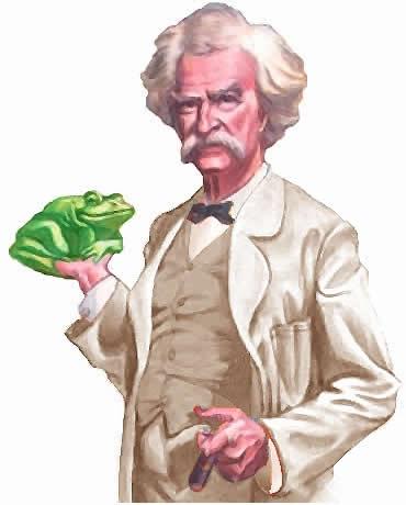 Mark Twain y Una Rana