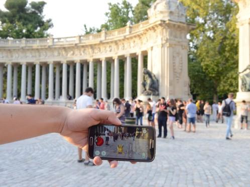 Pokémon Go en el Parque del Retiro de Madrid