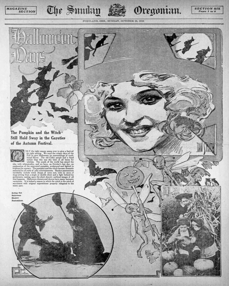 """Edición del 29 de Octubre de 1916 del """"Sunday Oregonian"""""""
