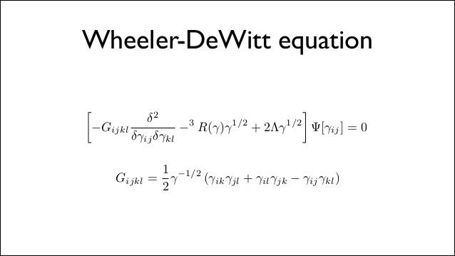 Ecuación Wheeler - DeWitt, más claro el agua