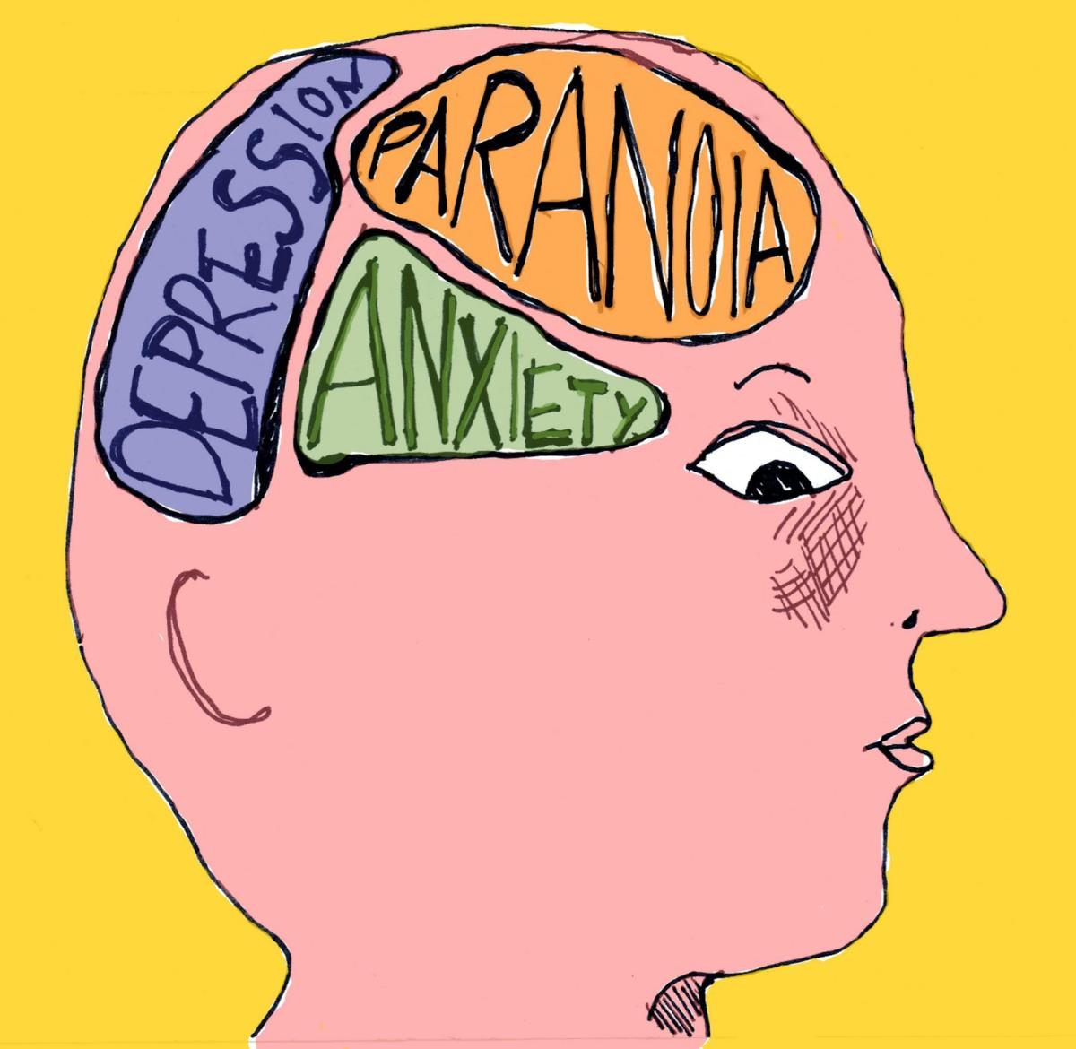 Retratos de las enfermedades mentales más comunes