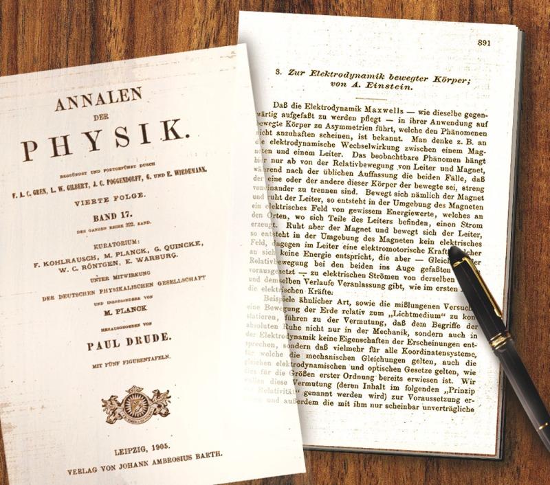 Portada de la revista 'Annalen der physik' de 1905, en donde fueron publicados los artículos de Einstein, siendo editor de la misma el profesor Max Planck