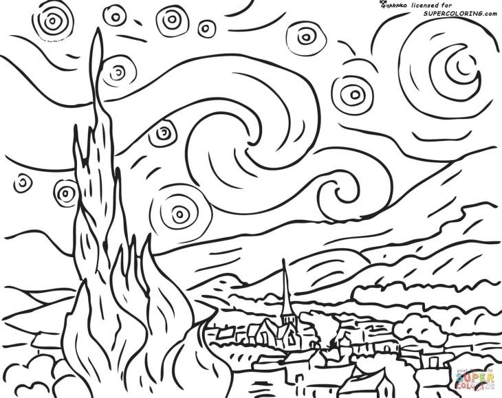 starry-night-by-vincent-van-gogh-coloring-page
