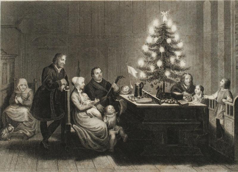 Martín Lutero y su familia en Wittenberg, la navidad de 1536