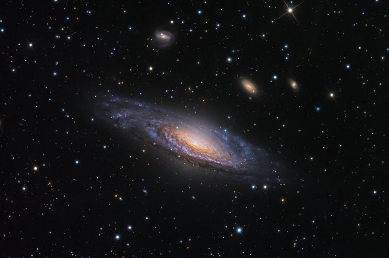 Galaxy NGC 7331 and its surrounding (and background) environment. Image credit: Adam Block/Mount Lemmon SkyCenter/University of Arizona.