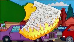 Flanders quema la demostración.