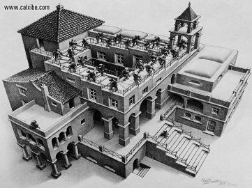 Ascending and Descending (1960) - M.C.Escher