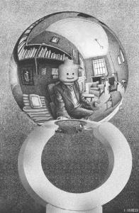 Autorretrato en espejo esférico (1935) - M.C.Escher