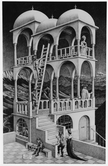 Belvedere (1958) - M.C.Escher