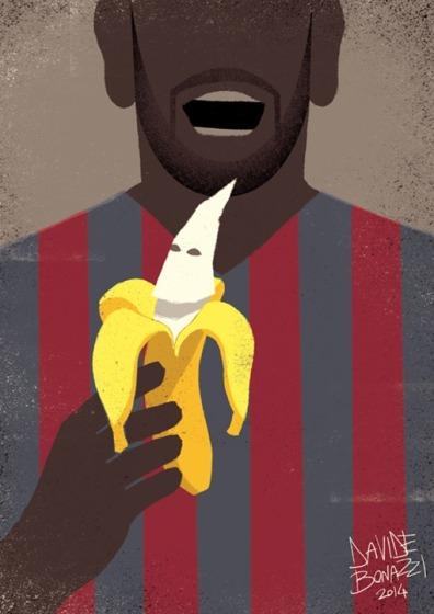 Dani Alves se come el racismo (tras el famoso incidente racista en el que tiraron un plátano al jugador y este se lo comió)