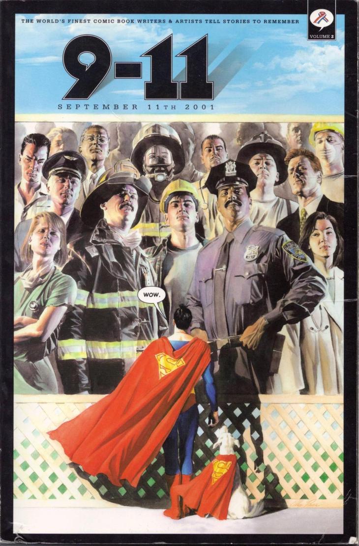 Superman Admirando Héroes de la Vida Real
