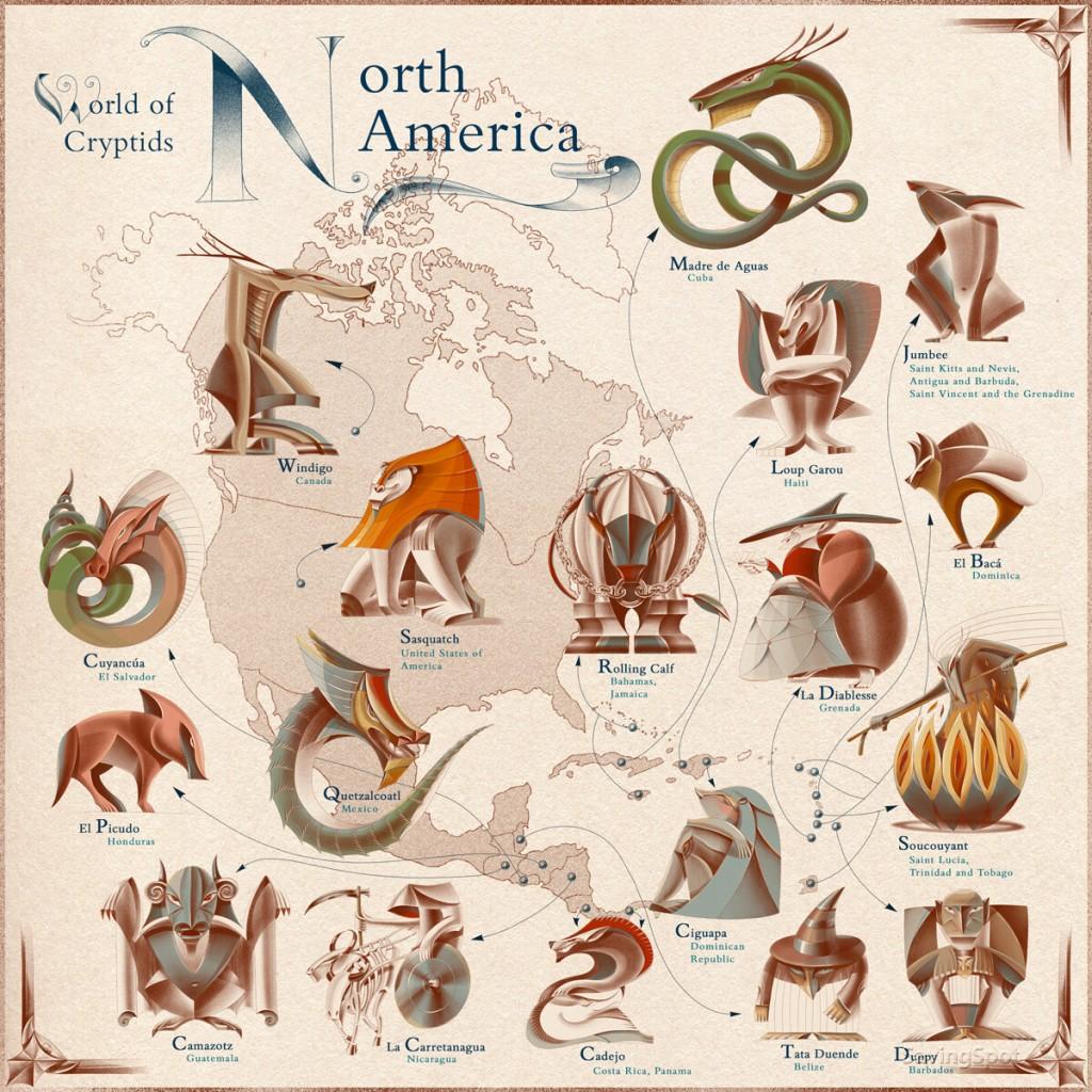 Criaturas de Norte América