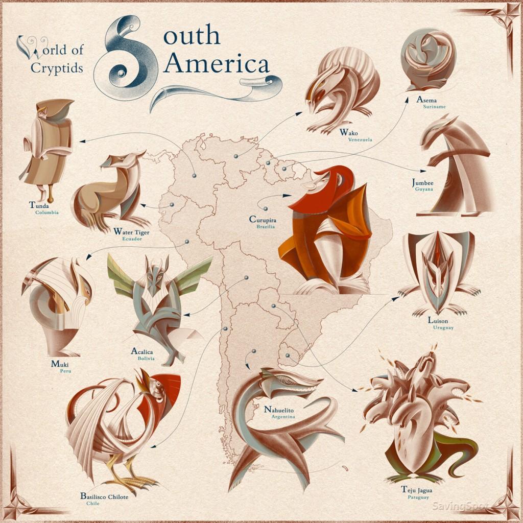 Criaturas de Sur América